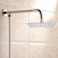 placa de chuveiro de aço inoxidável quadrada venda por atacado-Cabeça de chuveiro de aço inoxidável da chuva do banheiro quadrado Rainfall Chuveiro de banho de 12 polegadas Top Sprayer da chuva da alta pressão do pulverizador