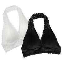 c6a9435fa Empurrar para Cima Sutiãs de Renda Para As Mulheres 2018 Plus Size Halter  Bralette Backless Lingerie Bras Preto Branco Wirefree Underwear Brasier  Mujer