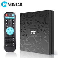 Wholesale android tv box play store for sale - Android TV Box T9 Rockchip RK3328 GB GB GB GB with Google Play Store Netflix Youtube T9 Smart IPTV BOX