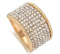 kc klingelt großhandel-Diamant-Legierung KC-Goldring der neuen Ankunftsfrauen-Art und Weiseschmucksachen königlicher Liebes-Valentinstag Weihnachtsfestgeschenk