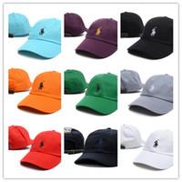 en sıcak kadınlar beyzbol toptan satış-Sıcak Yeni moda polo golf şapkaları Marka Yüzlerce Kayış Geri erkekler kadınlar kemik snapback şapka Ayarlanabilir paneli golf spor beyzbol şapkası