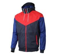 Wholesale spring online - Hot Sale Men Spring Autumn Windrunner Jacket Thin Jacket Coat Men Sports Windbreaker Casual Panelled Coats Male Tracksuit