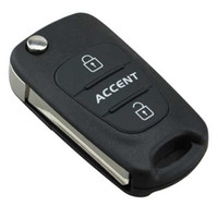 Wholesale folding car remote flip key shell for sale - Group buy Flip Folding Remote Key Shell Case Buttons Fit for Hyundai Accent Keyless Entry Fob Cover Car Alarm Housing