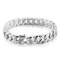 Wholesale silver jewelry sellers resale online - best seller High Quality Gifts Jewelry for women Men Hip Hop silver Stainless Steel Casting Curb Chain Link Bracelet mm in