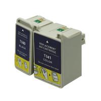 tinta de impresora de calidad al por mayor-Reemplazo del cartucho de tinta del color negro 2PK T040 T041 para las impresoras de Epson Impresora del stylus C62 CX3200 tinta completa inyección de tinta de alta calidad