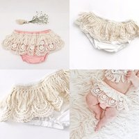 Wholesale Tassel Short Costumes - 3 colors Baby Girls cute lace tassles shorts 4 sizes for 1-3T toddlers photo costumes ins hot baby shorts