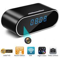 cámara de visión nocturna despertador al por mayor-1080P WiFi Mini cámara Z10 Despertador IP Cámara inalámbrica para interiores / Monitor de bebé para mascotas / Niñera con detección de movimiento, Visión nocturna IR Envío de la gota