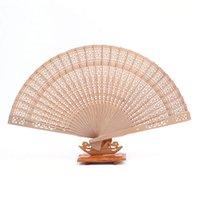 fan de la fragancia al por mayor-100pcs fragancia ventilador de madera estilo chino fan de la boda con el nombre del novio de la novia fecha de boda personalizada Envío gratis