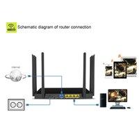roteador ac venda por atacado-1750 Mbps AC WI-FI Roteador 2.4G + 5.8G Enginering AC Gerenciar roteador 1 Wan 4Lan 802.11ac ponto de acesso wi fi router Frete Grátis