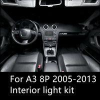 araba aksesuarları led ışık toptan satış-Shinman 12 adet Hata Ücretsiz araba LED İç Işık Kiti Paketi için AUDI A3 8 P aksesuarları 2005-2013 iç ışık freeshipping