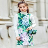 Wholesale Handmade Girls Christmas Clothes - Girls Rose Flower Dress Summer 2018 Brand Handmade Children Princess Costumes Kids Dresses Robe Enfant Girls Clothes