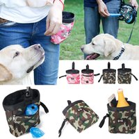 Wholesale camouflage dog bag for sale - Camouflage Pet Food Training Pouch Dog snack Puppy Walking Treat Snack Bag Dispenser Waist Storage Food Container Bag FFA318 COLORS