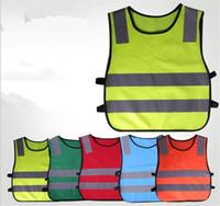 orange sicherheitswesten großhandel-Kinder Hohe Sichtbarkeit Woking Sicherheitsweste Straßenverkehr Arbeitsweste Grün Reflektierende Sicherheitskleidung Für Kinder Sicherheitsweste Jacke Y266