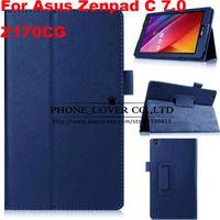 подставка для магнита оптовых-Magnet Stand litchi flip leather case cover For Asus Zenpad C 7.0 Z170CG Z170C 7