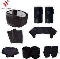 Wholesale tourmaline products - 11pcs set Tourmaline Self-heating Belt Magnetic Therapy Neck Shoulder Posture Correcter Knee Support Brace Massager Products