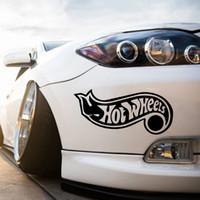 Wholesale Wheel Jdm - Hot Wheels JDM White Rear Car Truck Window Wall Laptop Vinyl Decal Sticker