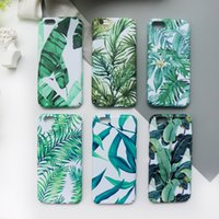 Wholesale light green leaf for sale - For iPhone X Thin Light PC Case Fresh Art Leaf Design Shockproof Scratchproof Back Cover for iPhone Plus OPP Aicoo