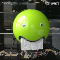 lindo soporte de papel higiénico al por mayor-Ball Shaped Cute Emoji Bathroom Toilet Papel higiénico a prueba de agua Roll Roll Holder