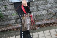 vestido rojo bolsas de dulces al por mayor-Venta al por mayor-Mujeres Bolsa de cubo Bolsos grandes Diseñador de la marca Monedero Moda Doble F Bolsa de bolsillo de bolsillo de moda