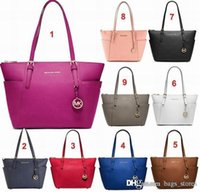 Wholesale Totes Handbags Brand Cheap - Fashion Women Bags Handbags PU Leather Famous M Jet Set Travel Saffiano Famous Brand Designer Tote Lady Female Cheap Bag