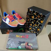 ingrosso run di palla-Nuovo aggiornamento Dragon Ball Z x ZX 500 Goku Run Shoe Classic Designer Fashion Limited Edition Scarpe sportive di qualità superiore con scatola