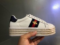 Wholesale Female Tops Sale - New arrive women luxury designer sneakers with top quality diamond casual luxury brand female shoes with bee loved for sale size 35-40