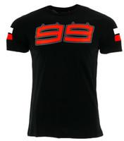 Wholesale Flame Logo - 2018 Jorge Lorenzo 99 Large Logo Men's T-shirt Moto GP Racing Summer Black Tee 10