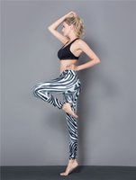 Wholesale gym yoga pant resale online - Western style Lady Yoga Pants Enlarge Size Leggings D Printing Sports pants Sexy Gym Jogging Trousers For Autumn Winter