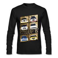 araba uzun kollu toptan satış-2017 Erkekler t gömlek Tasarım Grubu B Ucuz Grafik Ralli Araba Tişörtlü Baba Hediye Uzun Kollu
