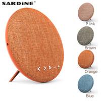 mini usbgewebe großhandel-Sardine F6 Fabric 4.1 Bluetooth Lautsprecher Tragbarer kabelloser runder Lautsprechersound mit eingebautem 4000mAh Bücherregal Indoor Music TF AUX