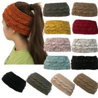 diademas de derby de kentucky al por mayor-Cinta de punto 14 colores colorido confeti invierno cálido cable de punto orejeras casquillo banda de pelo Twist Headbands Headwear 120pcs OOA5459