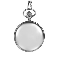 Wholesale silver mens pocket watches - Classic Smooth Vintage Mens Pocket Watch Xmas Gift (Silver)