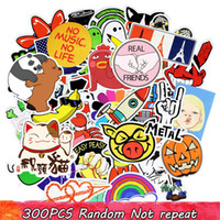 Wholesale Korean Style For Kids - Diy stickers posters wall stickers for kids rooms home decor sticker on laptop skateboard luggage wall decals car sticker 300pcs