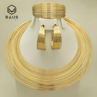 ingrosso gioielli perline indiane-BAUS Eritrea Dubai Set di gioielli in oro arabo indiano Etiope Colore dell'oro nigeriano perline africane set di gioielli etiopi