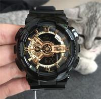 военная коробка часов оптовых-Оптовая шок спортивные наручные часы G стиль водонепроницаемый мужские часы резиновый ремешок все функции работы AAA качество военные часы с коробкой