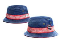 chapéus azuis do sol da camuflagem venda por atacado-Cheap cayler filhos balde chapéus camuflagem pescador cap verão sol praia casual cayler filhos azul denim cheech chong chapéus para mulheres dos homens