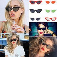Wholesale eyes matches online - 26 Colors Cat Eye Sunglasses Women Fashion Goggles Cute Sexy Eyeglasses Outdoor Vintage All match Eyewear LJJA24