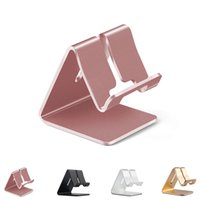 Wholesale tablet stander for sale – best Universal Rose Gold Aluminum Alloy Stand Holder Stander for iPhone for HTC for Samsung Mobile Phone Tablet PC