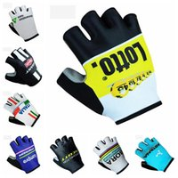 Wholesale Astana Cycling Clothes - ASTANA GIANT ITALY team Cycling Gloves Bicycle Clothing Breathable Motorcycle Racing Gloves for man and women D2003