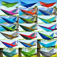 Wholesale wholesale gear bags - Top Quality Portable Nylon Parachute Double Person Hammock Outdoor Camping Safe Outdoor Gear ravel Hammock Sleeping Bag 270X140cm