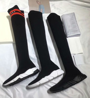 Wholesale Warm Christmas Socks - 2018 Winter Oreo 3 Colors Long Boost Stretch Sneaker Fashion Men Women Outsoor Casual Shoes Boosts Warm Socks Shoes Boots 35~44