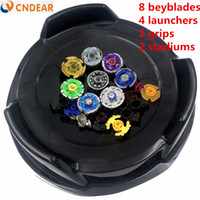Wholesale beyblade 4d metal master online - Beyblade arena stadium Metal Fusion D Freies System Battle Metal Top Fury Masters launcher and grip children toy111