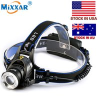 Wholesale Led Headlamp LM T6 Zoomable Headlight Waterproof Head Torch flashlight Head lamp Fishing Hunting Light Stock in US