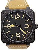 Wholesale Steel Dive Case - 2017 New Style Men's Automatic Mechanical Limited Edition Watch Bell Aviation Men Sport Dive Watches Black Case BR01-92 Black Rubber #3699