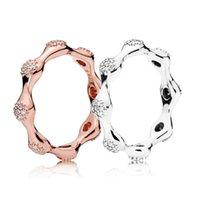 vainas de guisantes al por mayor-CHAMSS Modern Love Pea Pod 100% 925 joyas de plata esterlina del anillo del encanto para las mujeres anillo de regalo de cumpleaños envío gratis