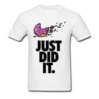 apenas camisas brancas venda por atacado-Frete Grátis Hot Sale dos homens Tshirt 100% Algodão Macio Novas T-shirts Sweet Buns Só Fez Moda Verão Da Juventude Homem T Shirt Branco