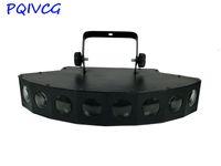 cortina preta luzes led venda por atacado-8 Lente LED RBGW Feixe de Luz DMX512 Holofotes Profissional DJ Casa Festa Projetor Show Stage Light