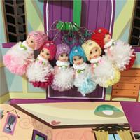 Wholesale dolls favors resale online - 30pcs Wood Line Wedding Dolls cm Mini Groom Doll Wedding Gift for Kids Girls Party Favors