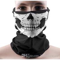 a máscara projeta a cor venda por atacado-Cool Skull Design partido máscaras cachecol Adultos Multi cor Esporte Motociclista Motociclista Cachecol Meia Máscara Facial Esporte Headband máscaras