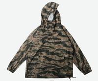 quimono aberto venda por atacado-Moda Japonesa Camo Kimono Casacos Japão Estilo Mens Hip Hop Camuflagem Casacos de Ponto Aberto Casuais Pulôver Moda Streetwear Jaqueta M-2XL